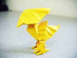 origami chocobo by alejandro-delafuente