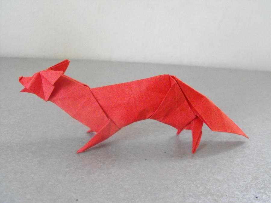 origami fox by alejandrodelafuente on deviantart