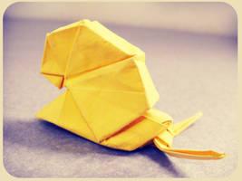 origami snail by alejandro-delafuente