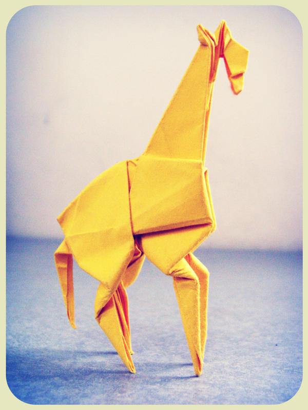 origami giraffe by alejandro-delafuente on deviantART - photo#8