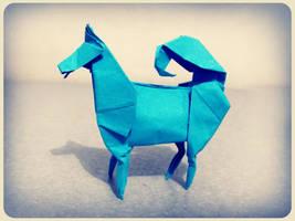origami husky by alejandro-delafuente
