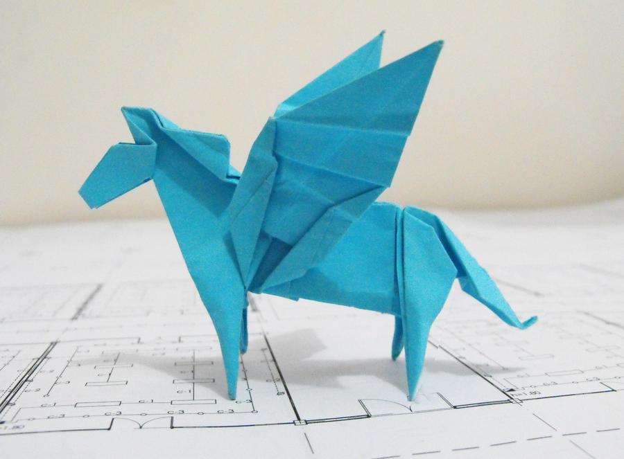 Origami Pegasus By Alejandro Delafuente On Deviantart