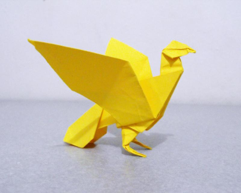 origami pigeon by alejandrodelafuente on deviantart