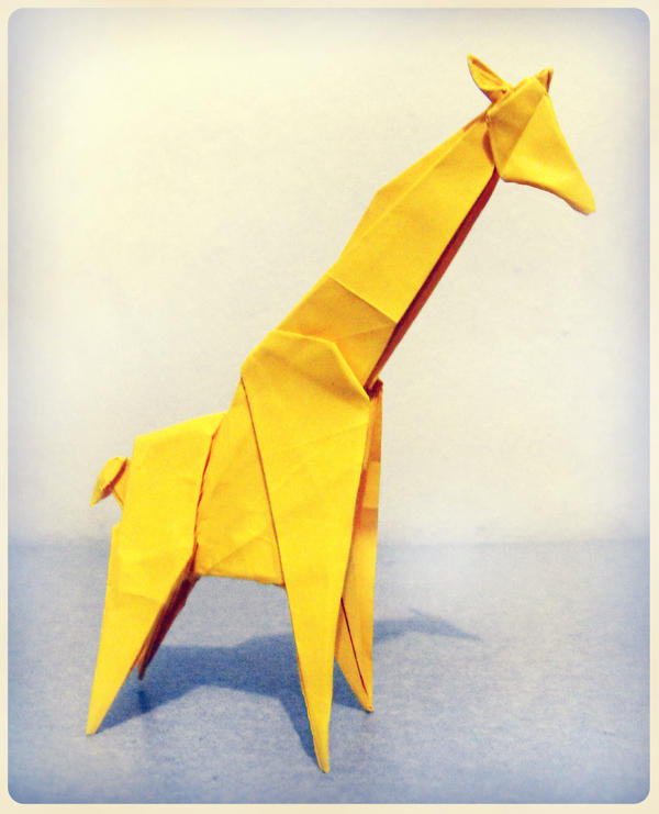 Origami Giraffe 2 by alejandro-delafuente on DeviantArt - photo#4