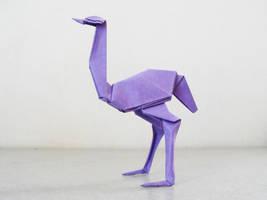 Origami Ostrich by alejandro-delafuente