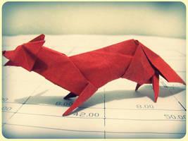 Origami Fox 2 by alejandro-delafuente