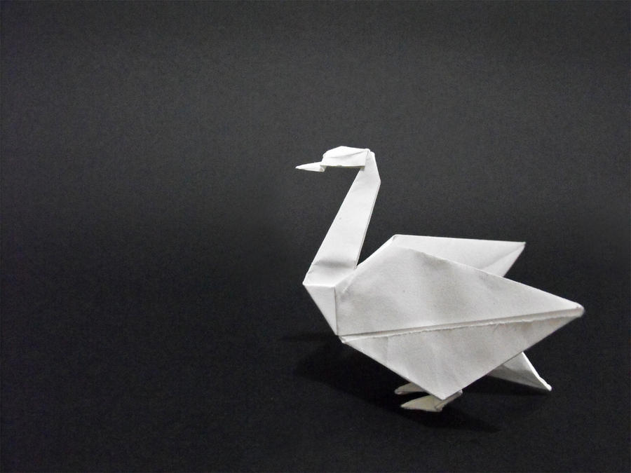 Origami swan by alejandro delafuente on deviantart for Origami swan folding instructions