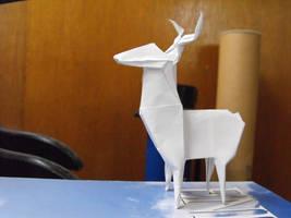 Origami deer 2 by alejandro-delafuente