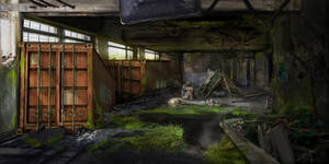 post apocalyptic environment concept- lonely