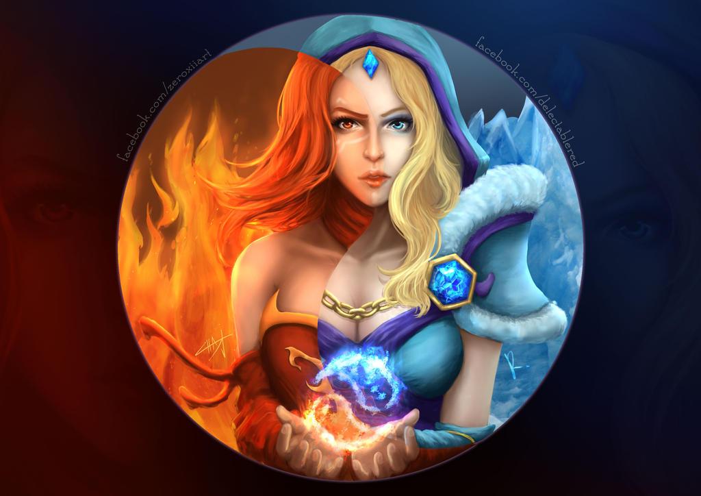 dota2 lina and crystal maiden by zerox ii on deviantart