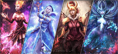 My Dota 2 Arcana Girls