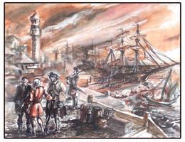 Leaving the port by Tsabo6