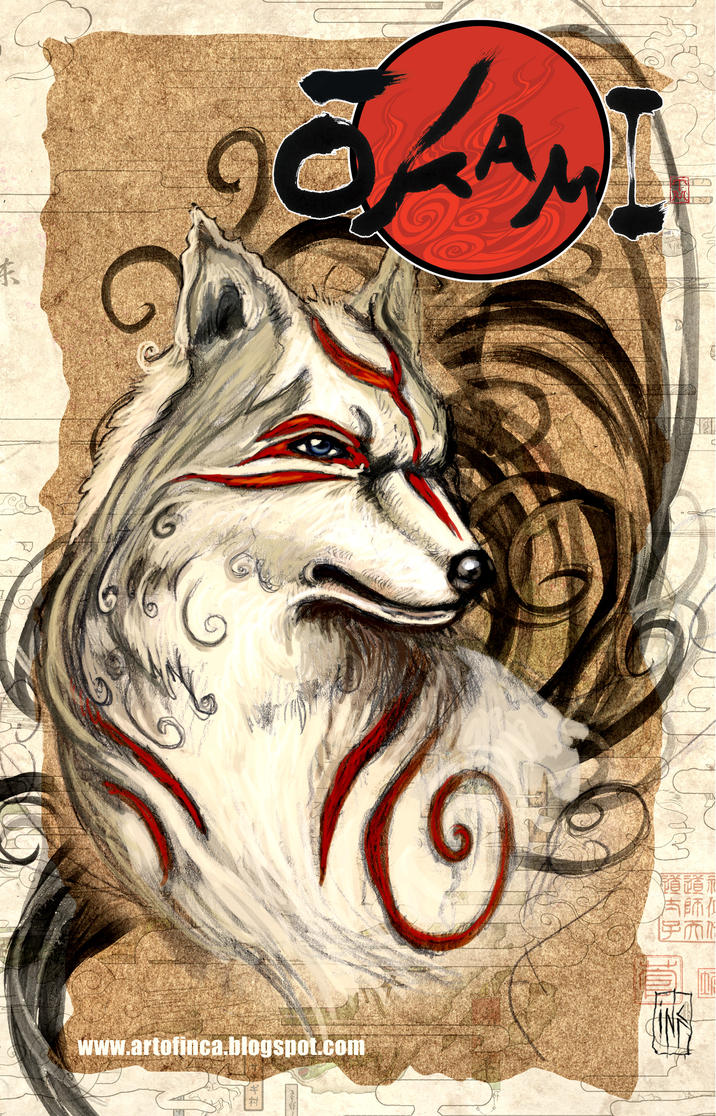 Okami art for contest by Tsabo6