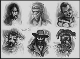 6 portraits by Tsabo6