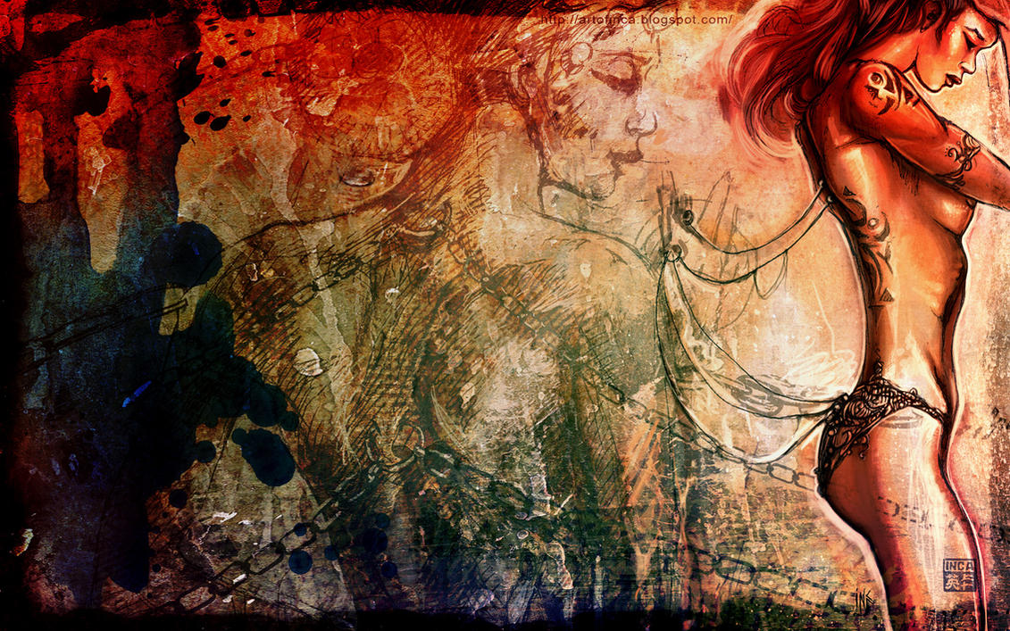 13. Best Wallpaper Art Painting | Sexy Woman Grunge