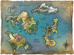 TITAN world map