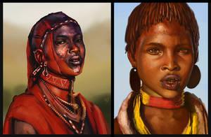 Study: Masaii Portraits by Tsabo6