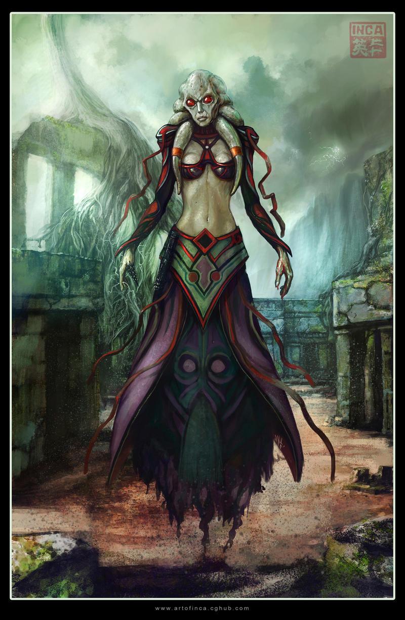 Nautolan Sith Sorceress by Tsabo6