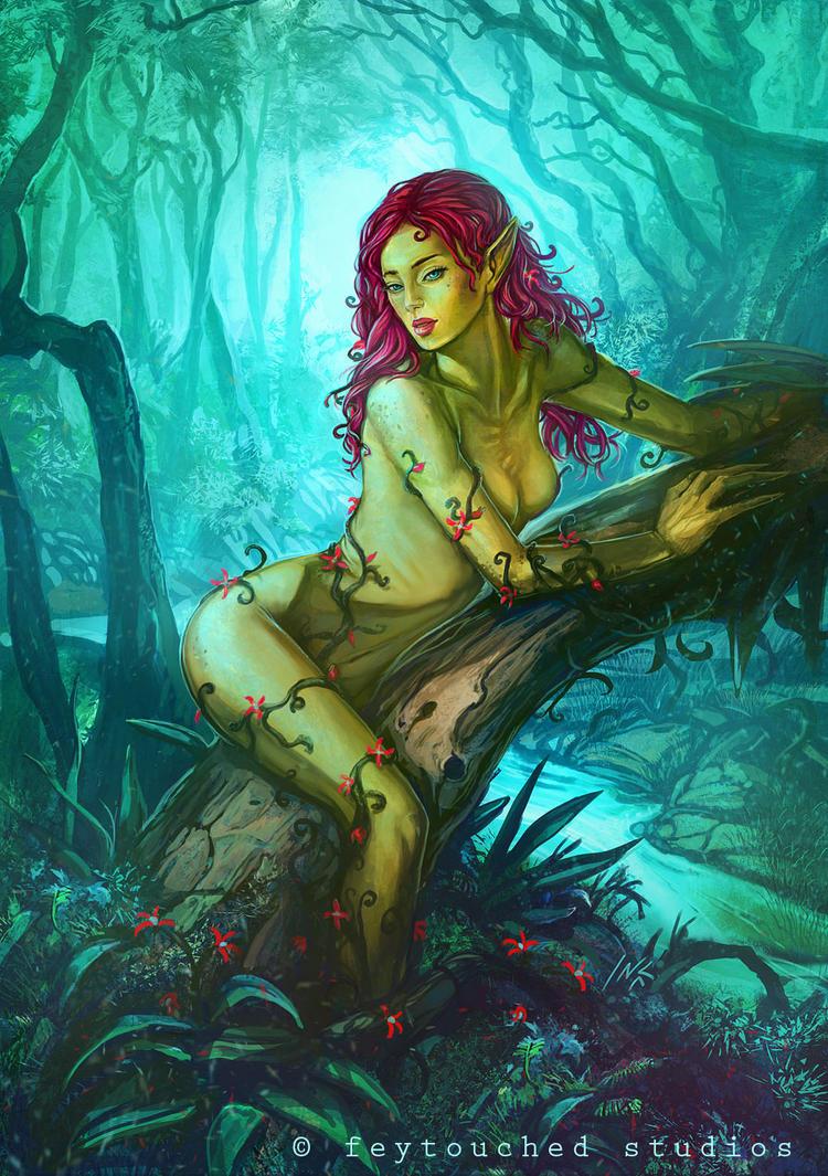 dark naked vampire princess