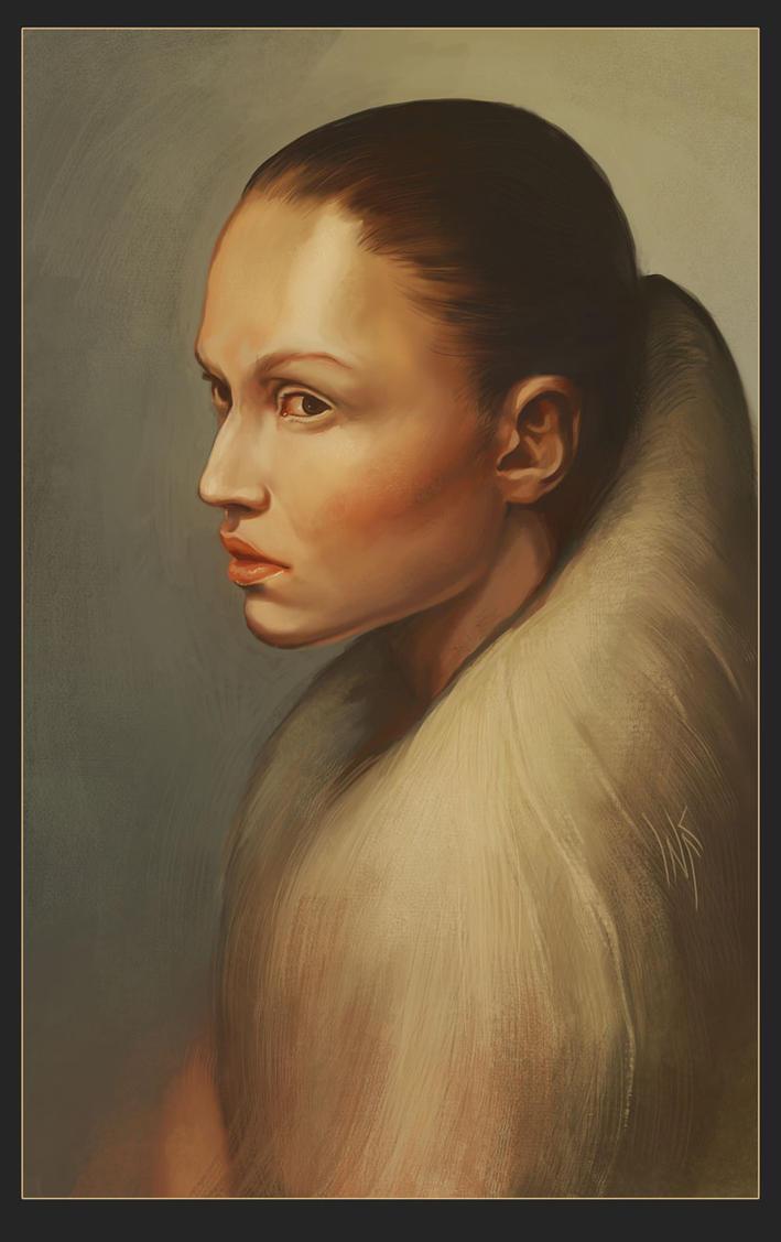 Portrait of a girl by Tsabo6