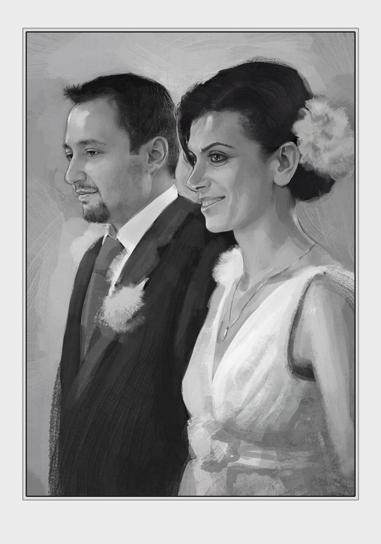 the Wedding portrait by Tsabo6