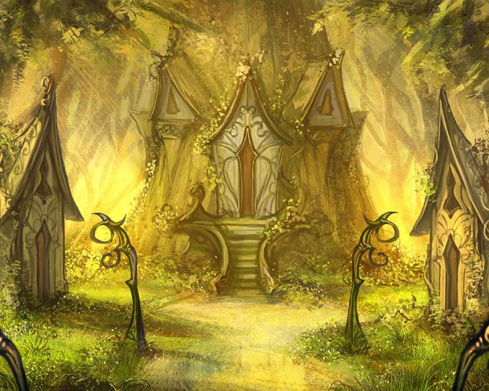 Elven shrine by Tsabo6