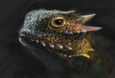 Lizard Study Fin by Tsabo6