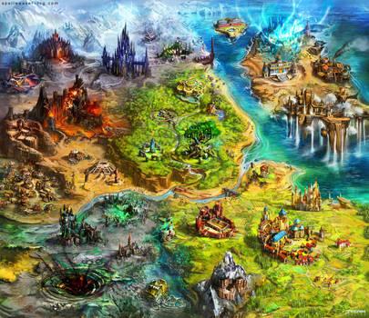 Asperia world map by Tsabo6