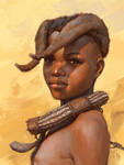 Himba tribe kid study