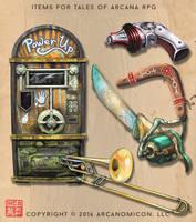 Items of Arcana 3 by Tsabo6