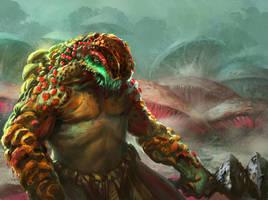 Mushroom dude by Tsabo6