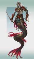 Deep merfolk assassin by Tsabo6