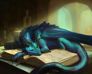 Blue dragon pup