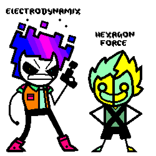 Electrodynamix and Hexagon Force Humanization by Daviddude403 on