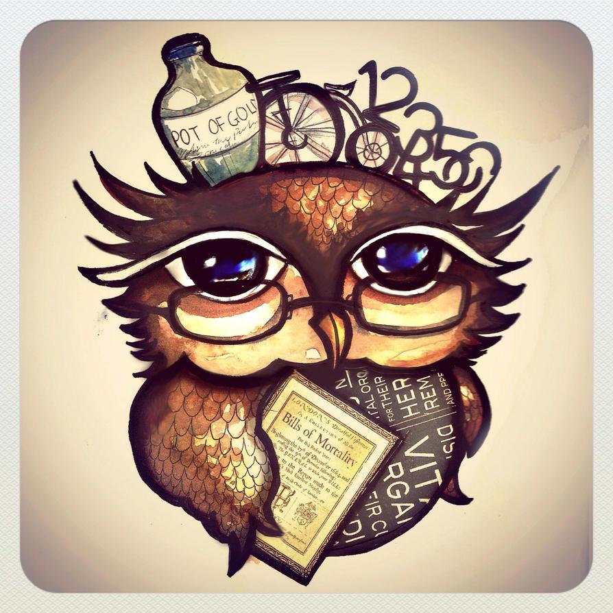 A Nerdy Owl by Thelittlematchbox on DeviantArt
