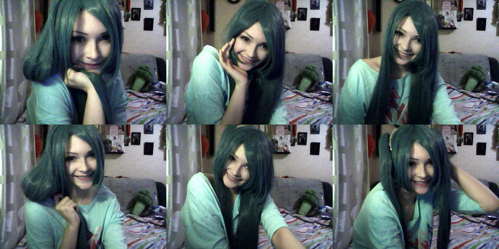 Time to try on a new wig *o* by NonMei