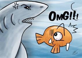 OMG Shark by twovader