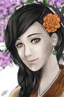 Manga Portrait - Ho Hsien-Ku by twovader