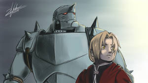 Fullmetal Alchemist - Brothers by twovader