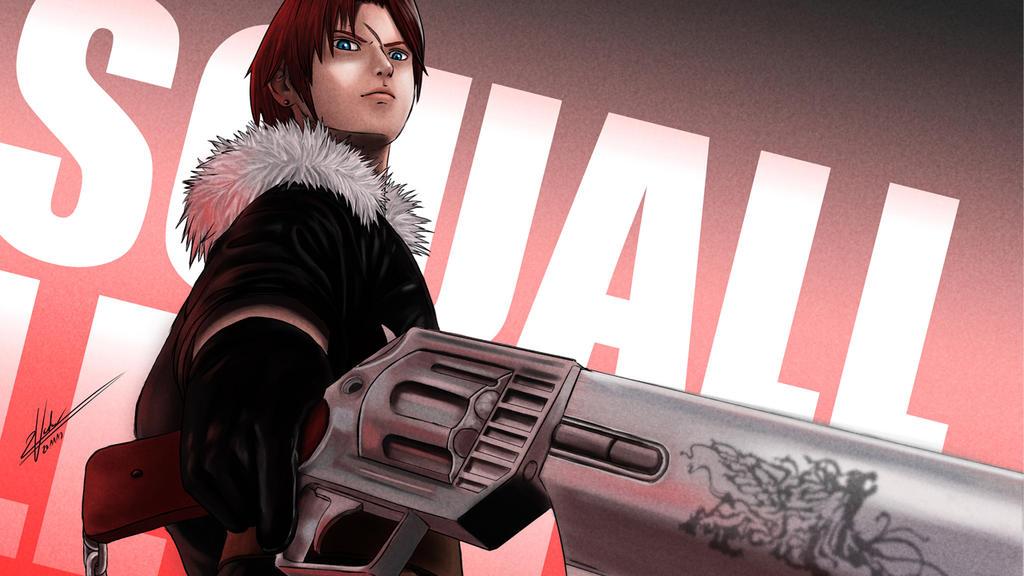 Final Fantasy VIII - Squall Leonhart Fanart by twovader