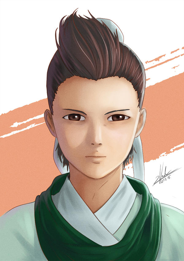 Let's Colour Manga #2 - Chinese Hero by twovader