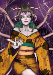 Dokomi 2015 Drawing Contest - Yokai (Jorogumo) by twovader
