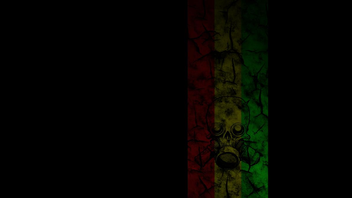 Rasta Wallpaper w Skull by wickedskoty on DeviantArt