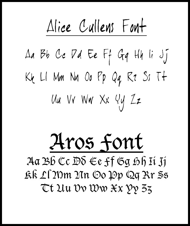 Edward Cullen Handwriting Download