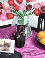 Cup Full of Mona -Pet Portrait by GabrielleKelly
