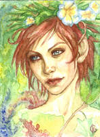 Watercolor Elf by GabrielleKelly
