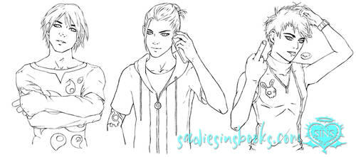 King Character Line Art by GabrielleKelly