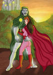 Dr Doom and Scarlet Witch
