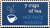 7 Cups of Tea Stamp by Rachel-Chen