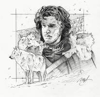 Game of Thrones - Jon Snow by roberthendrickson